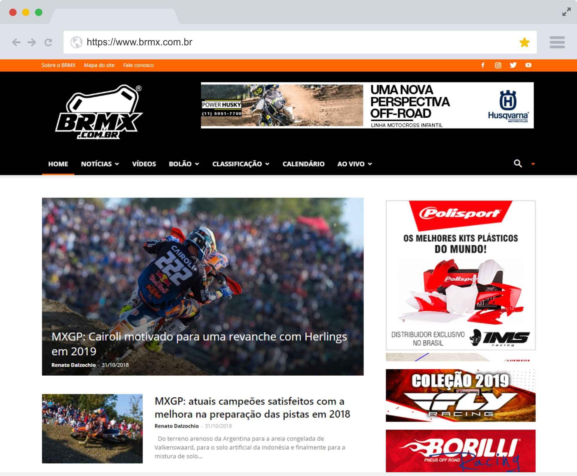 BRMX é um portal de notícias especializado em motocross e seus derivados.