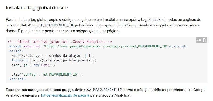 Adicionar gtag.js ao seu site